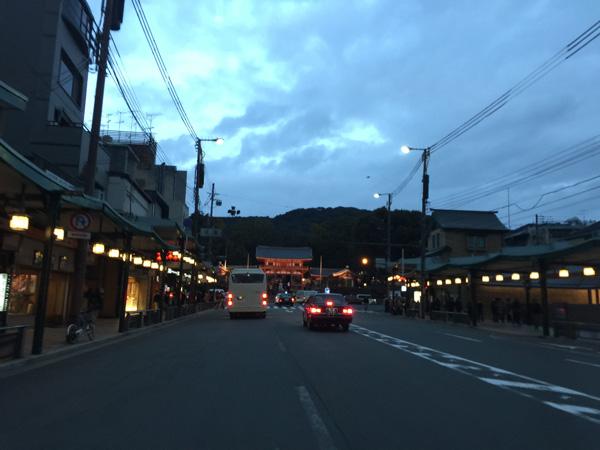 京都八坂神社を臨む